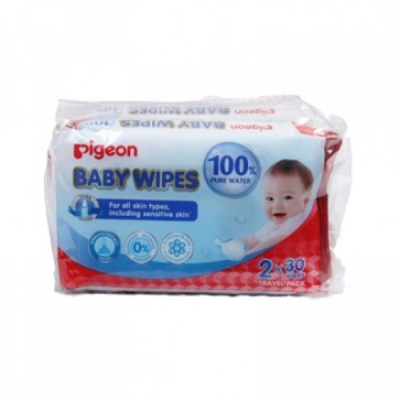 PIGEON BABY WIPES 30*2 SHEETS 100% PURE