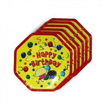 "Little Sparks Birthday Disposable Plates 10pcs (8"" x 8"")"
