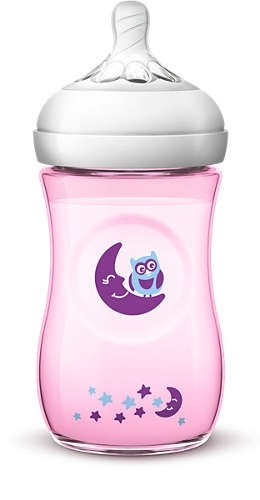Avent Natutal II 260ml Color & Deco Pk1 (Girl)