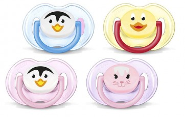 Avent 0-6m Orthodontic Animal Classic pk2