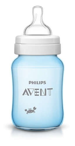 Avent Classic+ PP Deco Bottle 260ml PK1 Blue.