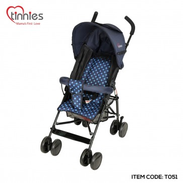 TINNIES BABY BUGGY-BLUE