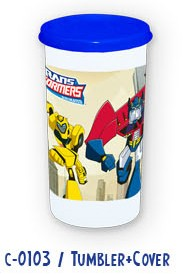 Transformers AnimatedTumbler w/ cover
