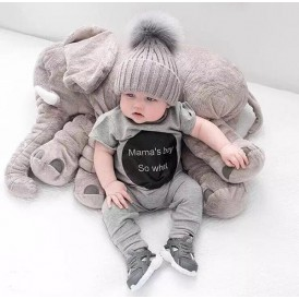 Little Sparks Stuffed Elephant Baby Pillow Grey