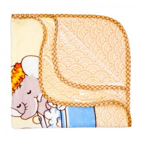 Little Spark Double Ply Blanket Elephent Yellow