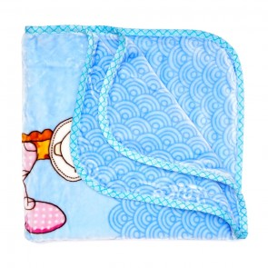 Little Spark Double Ply Blanket Elephent Blue