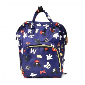 Little Sparks Baby Diaper Bag (Waterproof) Mikey Mouse Navy Blue