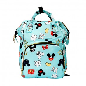 Little Sparks Baby Diaper Bag (Waterproof) Mikey Mouse Blue