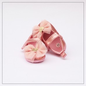 Baby Step Baby Shoes Pink Flowers