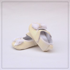 Baby Steps Baby Shoes Bow Beige