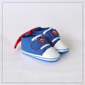 Baby Steps Baby Shoes Superman Blue