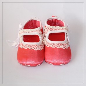 Baby Step Baby Shoes Pink & White