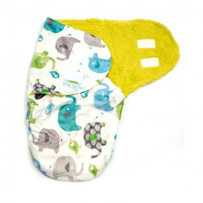 Little Star Winter Swaddle Animals Green