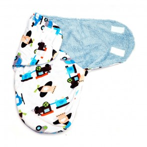 Little Star Winter Swaddle Truck Blue