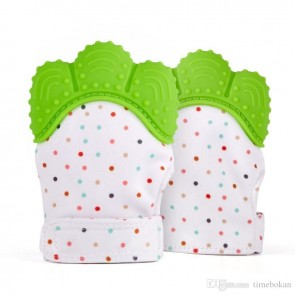 Baby Theeting Mittens Green (1 psc.)