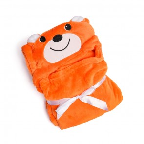 Baby Blore Blanket Bear Orange