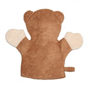 Little One Character Bath Glove Brown