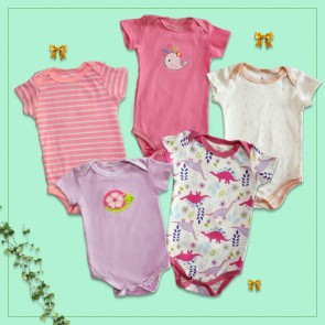 Little One Bodysuit 5pcs Set Multicolor (9 Months)