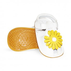 Baby Steps Sandals Yellow Flower