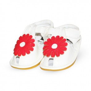 Baby Steps Sandals Red Flower