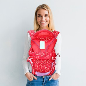 Little One 6in1 Multifunction Baby Carrier Red
