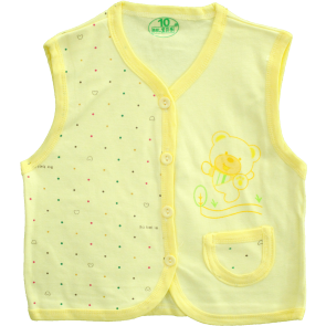 Little One Baby Vest Pack Of 3 Yellow