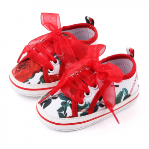 Baby Steps Shoes Rose Red