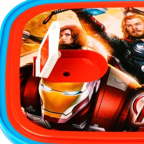 Little One 2 Pcs Lunch Box Red Avengers