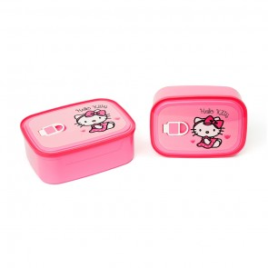 Little One 2 Pcs Lunch Box Pink Hello Kitty