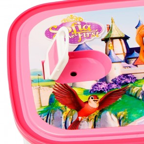 Little One 2 Pcs Steel Base Lunch Box Pink Sofia