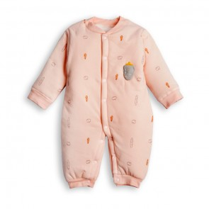 Little Spark Baby Body Suit Double Ply Carrot Pink