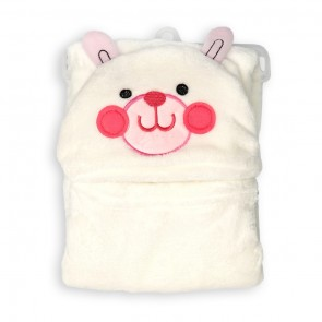 Little Spark Fluffy Blanket White Bear