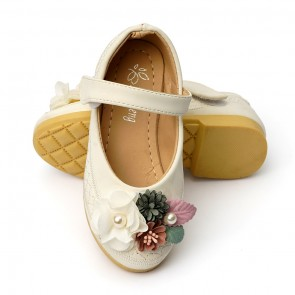 Happy Toes Kids Shoes Flower White