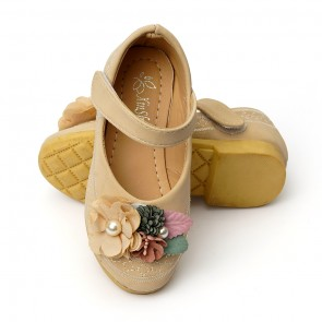 Happy Toes Kids Shoes Flower Gold
