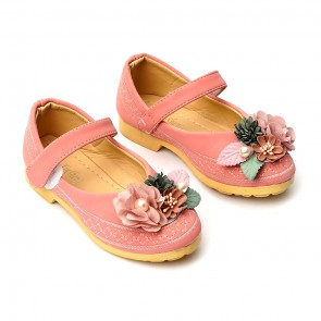 Happy Toes Kids Shoes Flower Pink