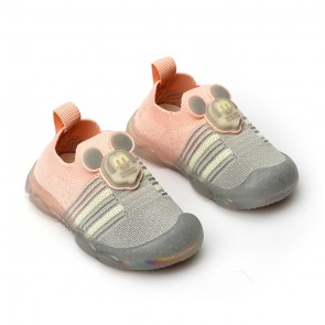 Happy Toes Kids Shoes Mickey Grey & Pink