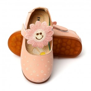Happy Toes Kids Shoes Sun Flower Pink