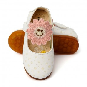 Happy Toes Kids Shoes Sun Flower White