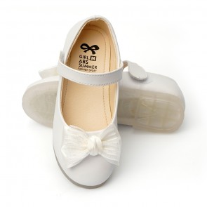 Happy Toes Kids Shoes Bow White