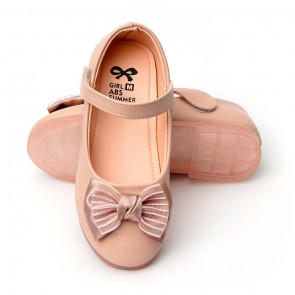 Happy Toes Kids Shoes Bow Pink