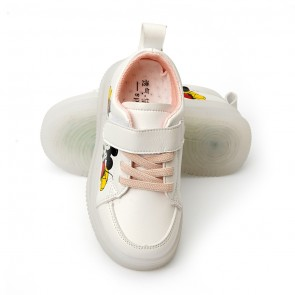 Happy Toes Kids Shoes Mickey White & Green