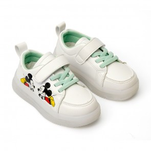 Happy Toes Kids Shoes Mickey White & Pink