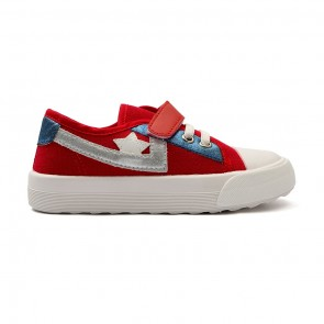 Bachaa Party Fancy Strap Style Sneakers - Star Red