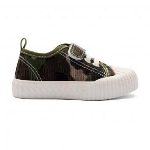 Bachaa Party Fancy Strap Style Sneakers - Camo Green