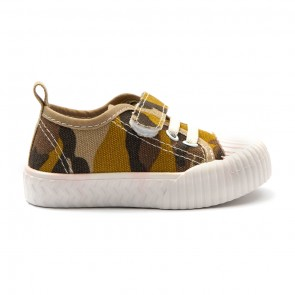 Bachaa Party Fancy Strap Style Sneakers - Camo Yellow