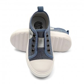Bachaa Party Fancy Slip On Sneaker - Heart Blue