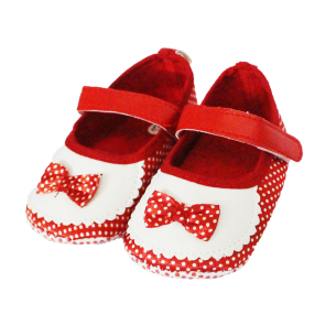 Baby Steps Shoes Red Bow