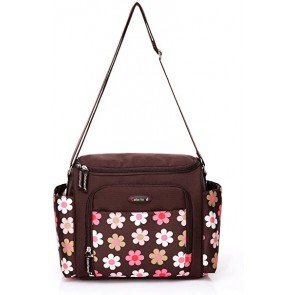 COLORLAND MOTHER BAG BROWN FLOWERS