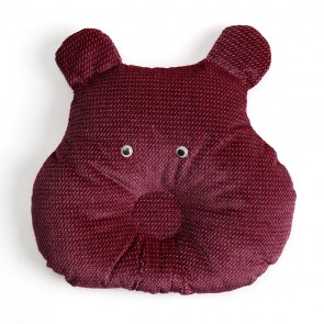 Cuby Baby Pillow Monkey Maroon