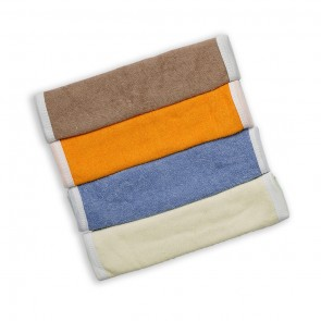 Cuby Baby Face Towels Pack Of 4 Multicolor